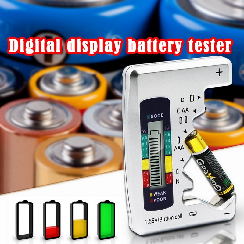 Digital Battery Tester Lcd Display C D N Aa Aaa 9v 1.5v Button Cell Battery Capacity Check Detector Capacitance Diagnostic Tool^ To Have A Unique National Style