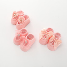 3 Pairs/lot Fashion Newborn Baby Socks Girls 0-24 Months Pink Purple White Gray 5 Colors Bow Sock Skarpetki