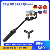 FeiyuTech Vimble 2S el Smartphone Gimbal Tripod sabitleyici özçekim sopa ile 180mm kutup iPhone X 8 7 samsung XIAOMI