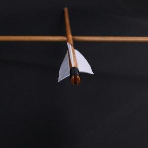 Image 4 - 6/12/24 Uds. De flechas naturales de madera hecho a mano 32 pulgadas con pluma de pavo blanco y punta de flecha de hierro para tiro con arco de 20 60lbs