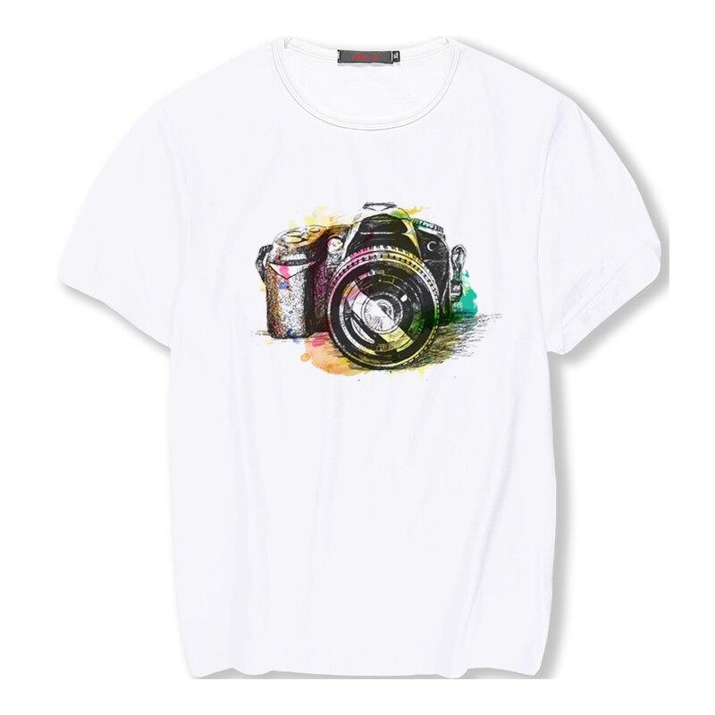 Camera Picture Printe Women T-shirts Your OWN Design Brand Logo/Picture Custom Men And Women DIY Joker White T-shirt Tops Tee