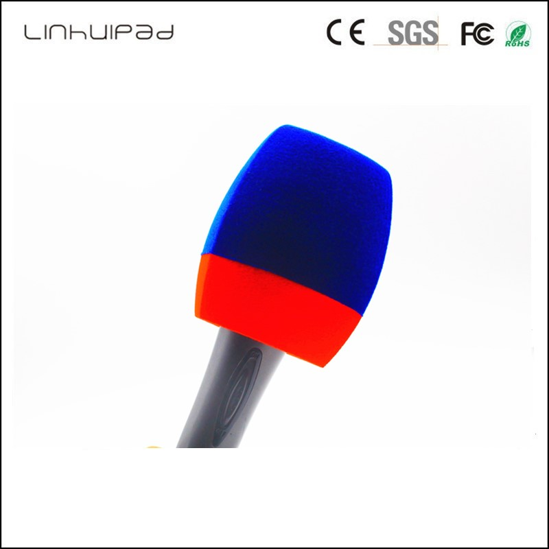 "Triangle Foam Reporter-Style  Windscreen Microphone Cover For Handheld Mics Windshield Inside Diameter: 4 CM (about .1.57"")"