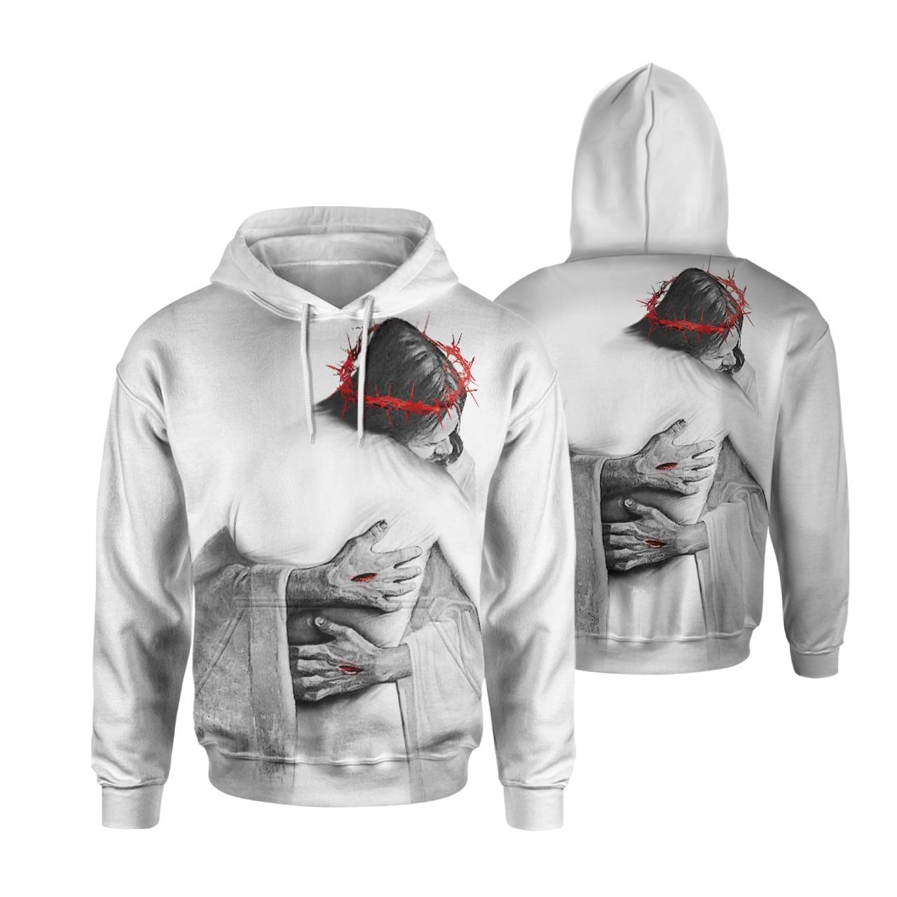 Women Men 3D Print Hoodies Pullovear Sweatshirts Jesus Harajuku style streetwear