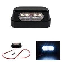 12V אוניברסלי שחור LED אופנוע זנב בלם אחורי לוחית רישוי אור עבור הונדה/קוואסאקי/ימאהה/סוזוקי