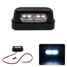 12V Universal Black LED Motorcycle Tail Brake Rear License Plate Light For Honda/Kawasaki/Yamaha/Suzuki
