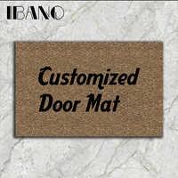 IBANO Tür Matte Gummi Gedruckt Angepasst Bad Küche Teppiche Fußmatten für Wohnzimmer Anti-Slip Tapete 40-60/45 -70cm