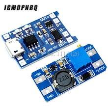 Micro carregador usb 5v 1a 18650 tp4056, módulo de carregamento de bateria de lítio placa de proteção + mt3608 2a DC-DC passo conversor para cima