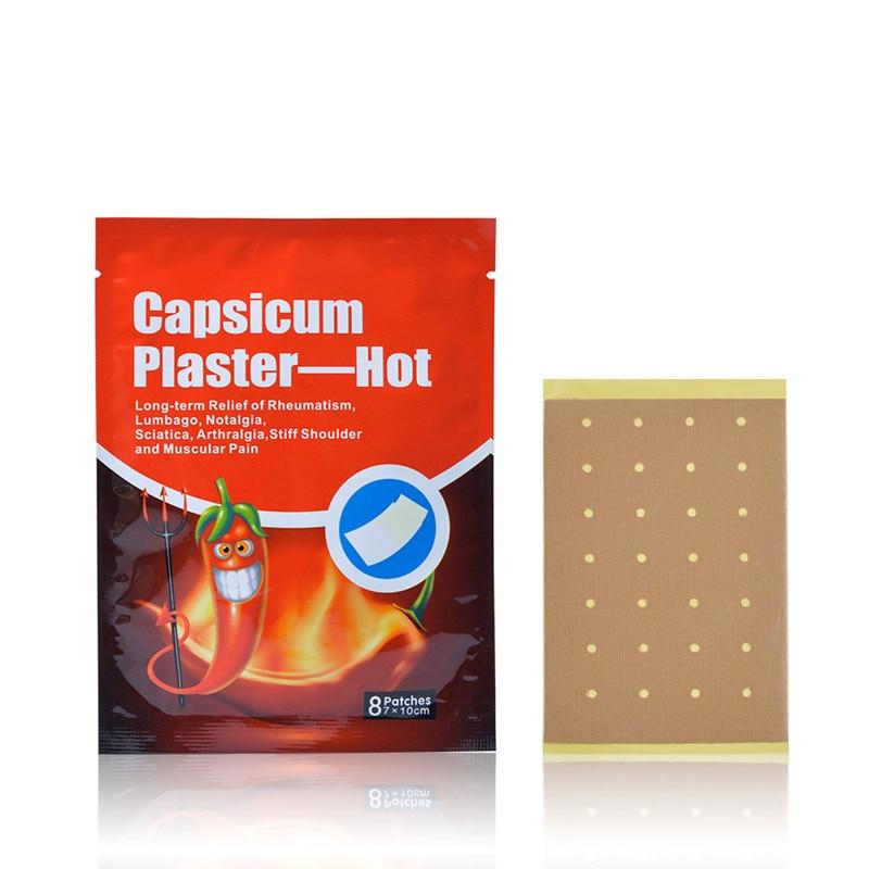 88 Pcs Medical Capsicum Plaster Patch Muscle Fatigue Neck Pain Relief Waist Shoulder Joint Ache Patch Health Care Body Massager