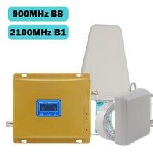 GSM الداعم 3g 2100 شاشة الكريستال السائل GSM 900mhz WCDMA 2100mhz المزدوج الفرقة إشارة الداعم 3G Gsm مكرر 2100 مكبر للصوت الخليوي