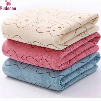 Cute Rabbit Soft Microfiber Baby Infant Newborn Absorbent Drying Washcloth Bath Towel Feeding Cloth toalha de banho