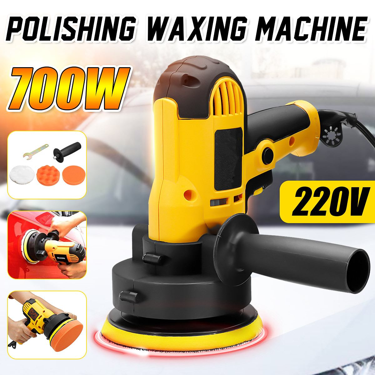 220V 700W Car Polishing Machine Polishing And Waxing Tool High Precision Low Noise Car Scratch Repair Sealing Glazing Machine
