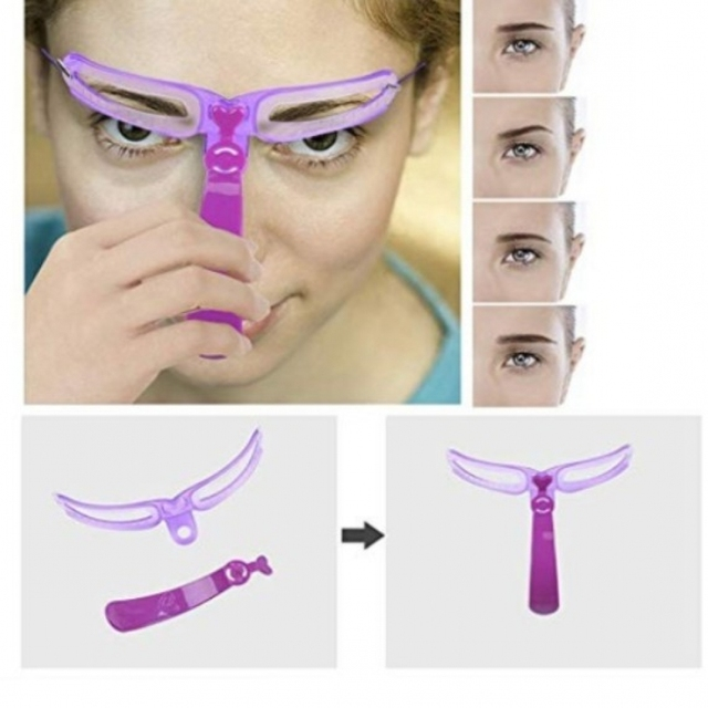 8Pcs Replaceable Eyebrow Shaping Template Helper Eyebrow Stencils Kit Grooming Card  Reusable Eyebrow Defining Makeup Tool Mould 1