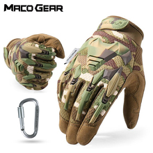Multicam Tactical Glove Camo Army Military Combat Airsoft Bicycle Outdoor Hiking Shooting Paintball Hunting Full Finger Gloves
