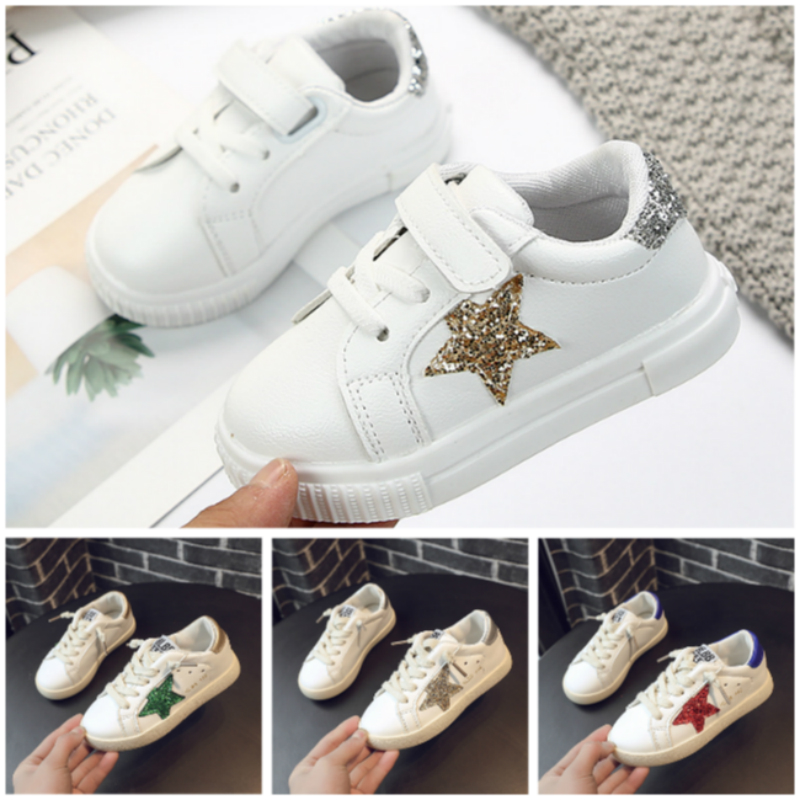 Kids Shoes For Big Girls Crystal Star Breathable Anti-Slippery Sole Children Mini Melissa For Baby Boys Toddler Sneakers Trainer