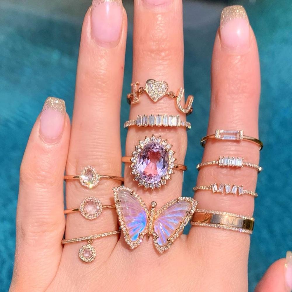 Dvacaman New Vintage Gold Crystal Rings 2020 Bohemian Moon Star Ring For Women Midi Finger Ring Set Wedding Fashion Jewelry Gift