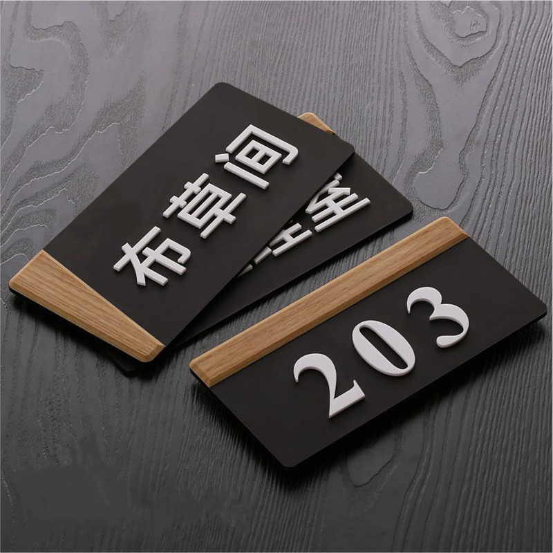 New Acrylic 3D customized house plate door number sticker house sign number Hotel Apartment Villa