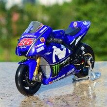 цена на Maisto 1:18 2018 Yamaha team No. 25 Rossi car  racing alloy motorcycle model car model die-cast toy car gift