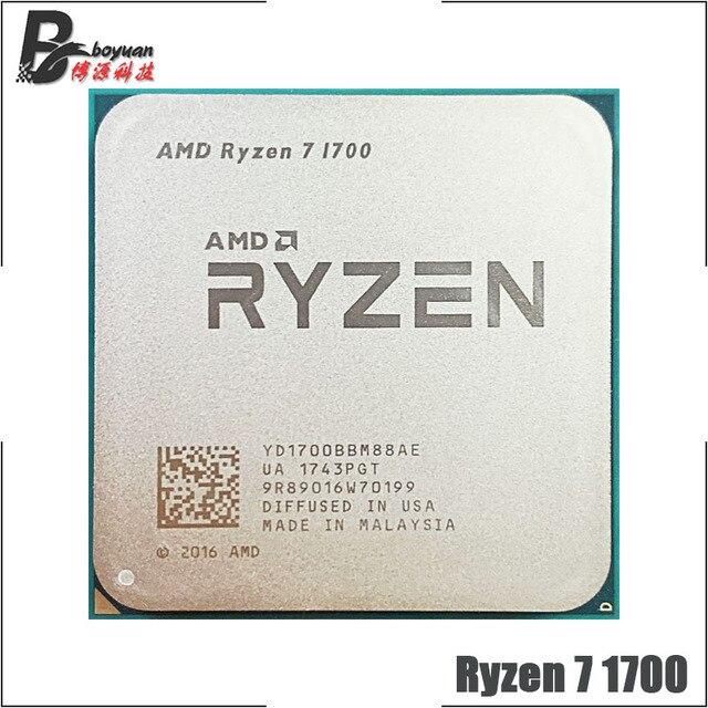 Processador amd ryzen 7 1700 r7 1700 3.0 ghz, cpu soquete am4, oito núcleo com rosca adolescente
