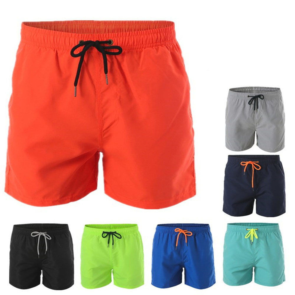 Plus Size Swimsuit Mens Swim Trunks New Solid XXXL Polyester Beach Pants Men's Shorts Summer Surf Pants Adult Summer Swimwear