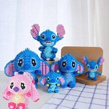 Disney Cute Lilo & Stitch Micro Blocks DIY Building Block Toys Cute Cartoon Auction Figures Kids Toys for Children Gifts