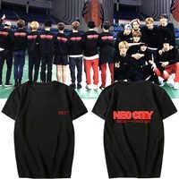 Мужская и женская хлопковая футболка с короткими рукавами NCT 127, летний Повседневный студенческий подарок для пары, Прямая поставка
