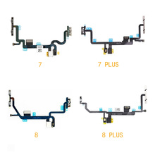 Power Switch On Off Volume Mute Button Flex Cable With Metal Bracket Assembly For IPhone 7 7Plus 4.7 5.5 8 Plus Repair Parts