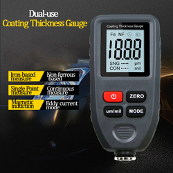 Coating thickness gauge 0.1um / 0-1300 automotive paint film thickness tester for measuring iron and aluminum paint plating tool