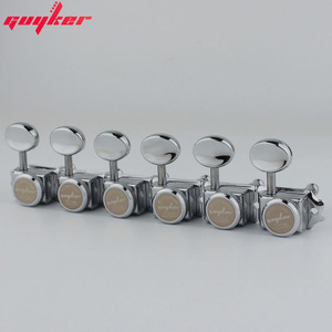 Image 5 - GUYKER Vintage Nickel/Chrome Lock String Tuners Electric Guitar Machine Heads Tuners For ST TL Guitar Tuning Pegs