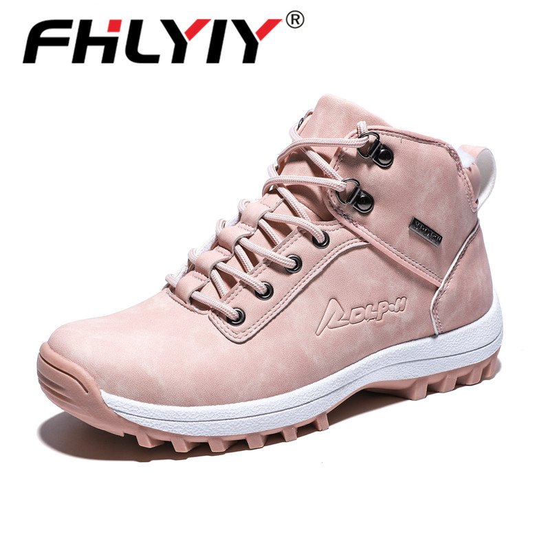 Fhlyiy Brand Woman Winter Boots 2019 Plush Pu Leather Ankle Boots Outdoor Non-Slip Sneakers Rubber Lady Boots Botas Mujer      .