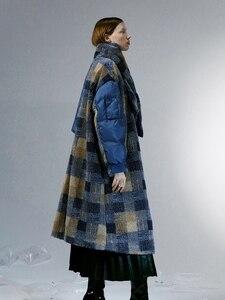 Image 5 - IRINACH112 2020 Winter New Collection oversize plaid berber fleece wool coat