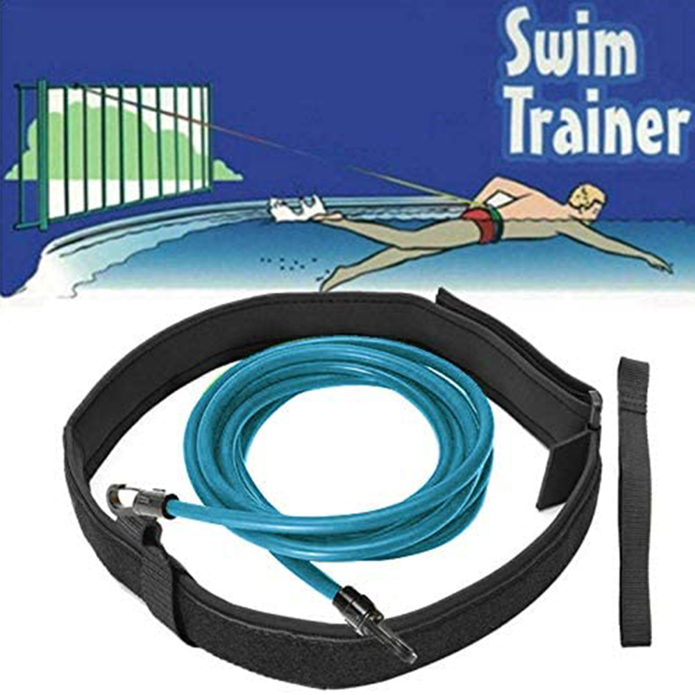 Swim Training Belts Leash Tether Stationaries Swimming Harness Bungee Cords Resistance Bands SEC88