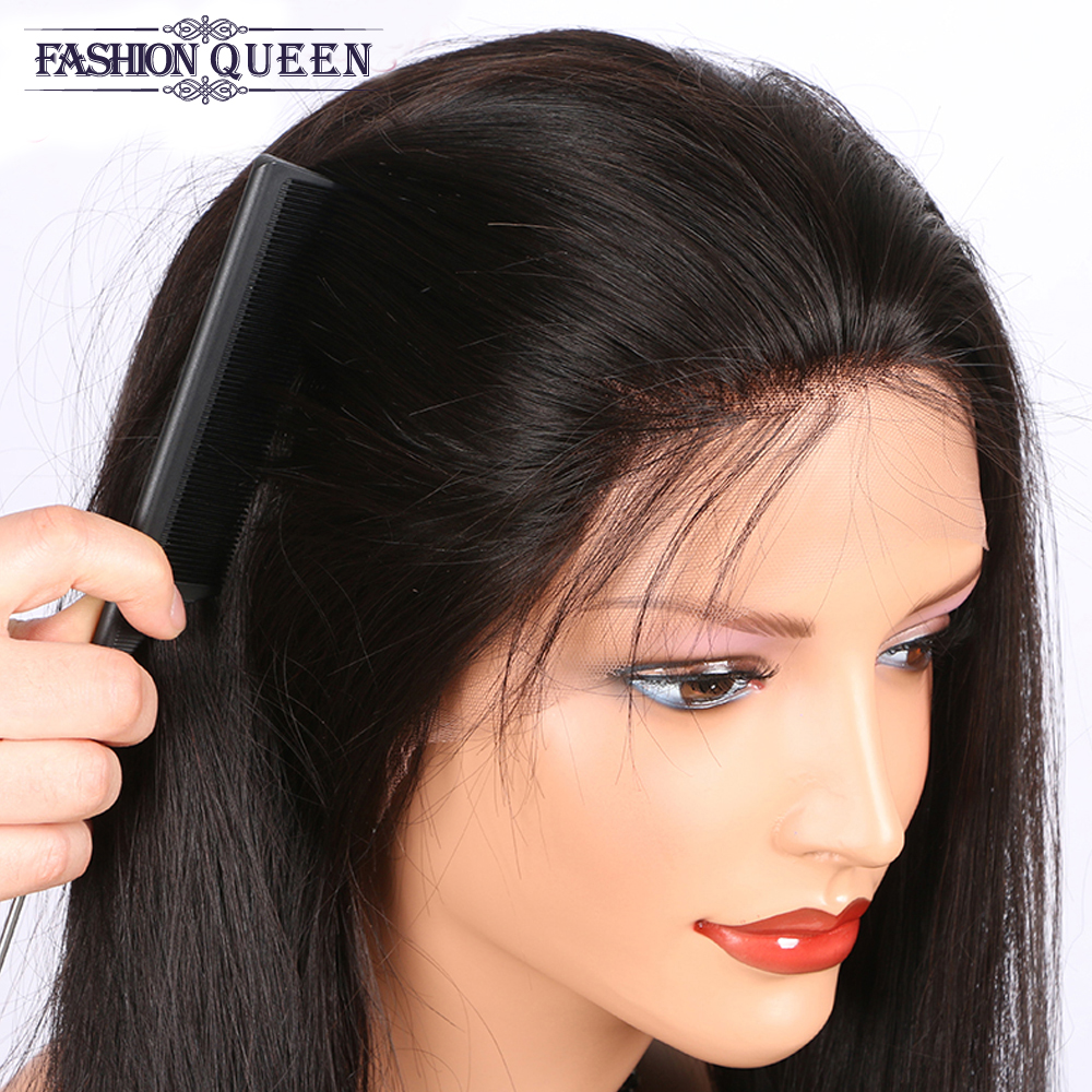 Straight Brazilian Lace Wig Full Lace Wig Pre Plucked Full Lace Human Hair Wigs Natural Hairline With Baby Hair