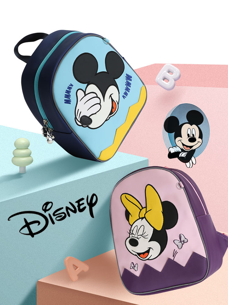 Cute Cartoon  Baby Backpack Mickey Minnie Baby Boy/Girl Backpack Kids School Bags Waterproof