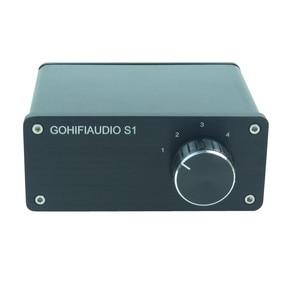 Image 2 - 4 (1) 1(4)OUT 4 WAY อินพุตเสียง RCA สายตัวเลือก Splitter Switcher สวิทช์ schalter แหล่งตัวเชื่อมต่อผู้จัดจำหน่ายกล่อง