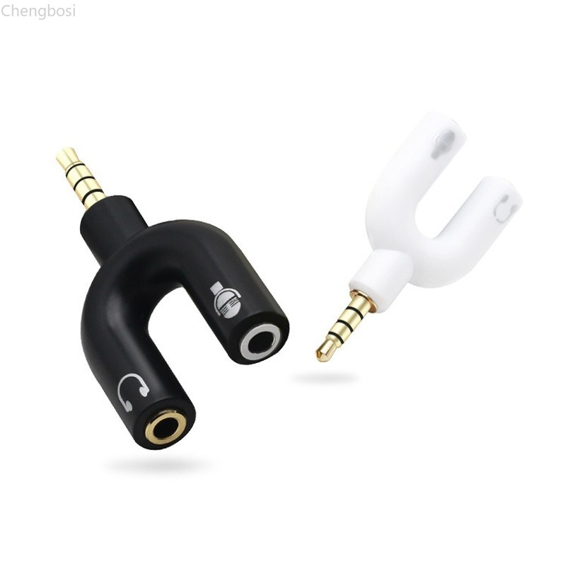 Daptor Splitter 3.5mm Stereo Audio Jack Headphone 2 Way Headphone Jack Splitter Earphone Connector Converter