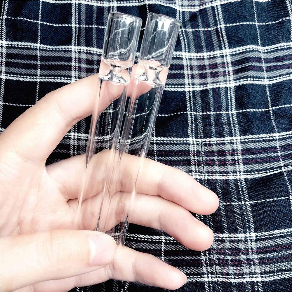 100 ミリメートル透明ガラスピペット 1 打者古典的なパイプたばこ喫煙ローリング紙ハーブタバコ強引パイプ