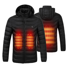 Coat Jackets Smart-Heating-Hooded Warm Waterproof Outdoor Winter Mens USB Pure-Color