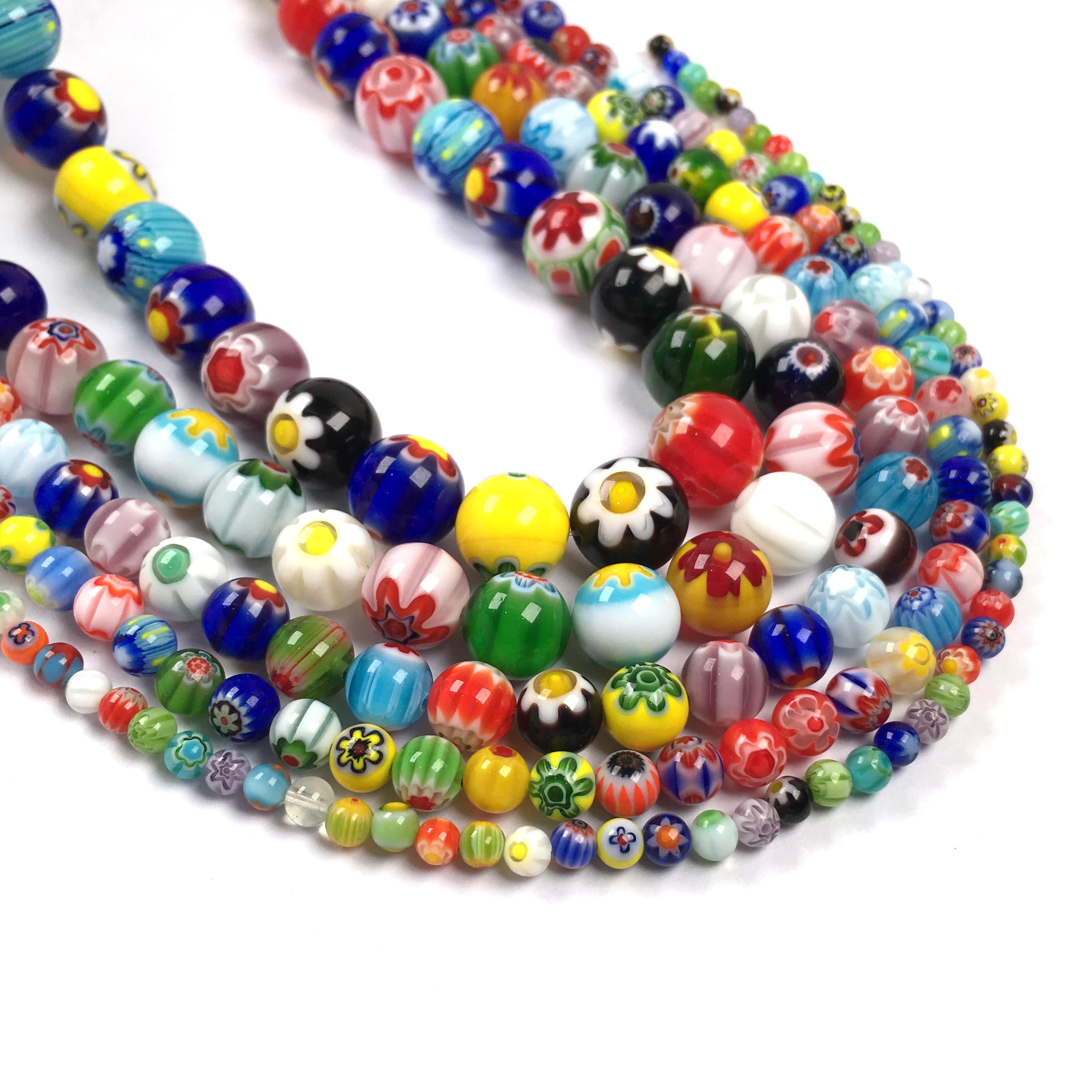 Women Jewelry Making Beads Glass Spacer Bulk Balls DIY Bracelet Necklace Bead