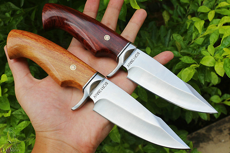 Tools : LCM66 hunting straight knife tactical knifeFixed Knivessteel head solid wood handle Survival KnifeCamping Rescue Knife tools