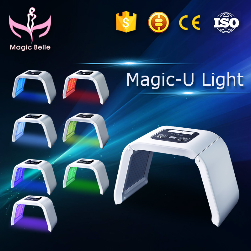 Non Invasive LED Photon Light Therapy 7 Colors Mask Beauty Machine For Face Acne Remover Anti-wrinkle Whitening