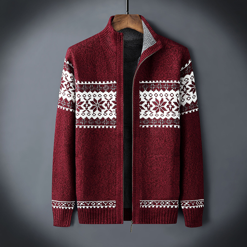 Winter Christmas Sweater 2020 Thicken Fleece Men Cardigan Knitted Blusa Masculina Men's Sweatercoat Plus Size S -3XL Knitwear