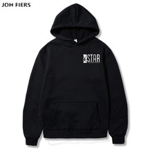 Superman Series STAR S.T.A.R.labs Jumper The Flash Gotham City Comic Books Black Hoodie Hoodies Sweatshirt Men 2019 Hooded Hoody