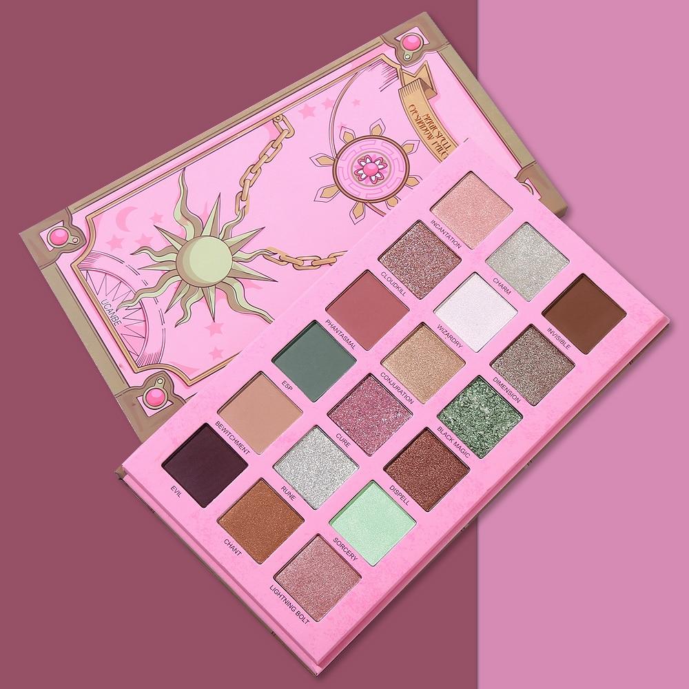 UCANBE Make-Up Pallete 18 Farbe Magie Zauber Shimmer Lidschatten-palette Make-Up Glitter Matte Lidschatten Nude Kosmetische