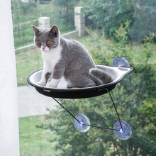 Cute Pet Hammock Bearing 15kg Window Cat Bed Pet Hanging Beds Cat Sunny Seat Window Mount Pet Cat Bed Cats Seat Beds