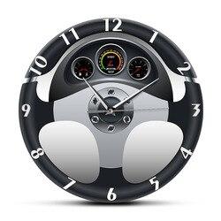 Спортивные настенные часы на руль и приборную панель, автомобильные часы для домашнего декора, автомобильные стильные настенные часы