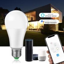 Ampułka LED E27 WiFi inteligentna żarówka 15W B22 głos Dimmale światła ampolleta parlantego lampy wifi praca z Google assistente/ alexa domu