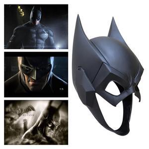 Image 1 - Top Quality Superhero The Dark Knight Batman Cosplay Masks Bruce Wayne Half Face PVC Helmet Mask Party Masquerade Carnival Props