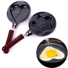 Cute Cartoon Fried Egg Pans Non-stick Mini Omelet Pans Heart Star Flower Alloy Egg Pot for Kids Breakfast Kitchen Cooking Ware