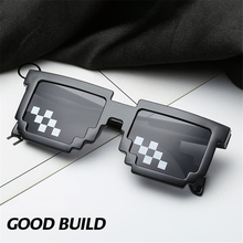 Toy Glasses Vintage Women Thug with Pixel Black Mosaic Funny Trick Deal