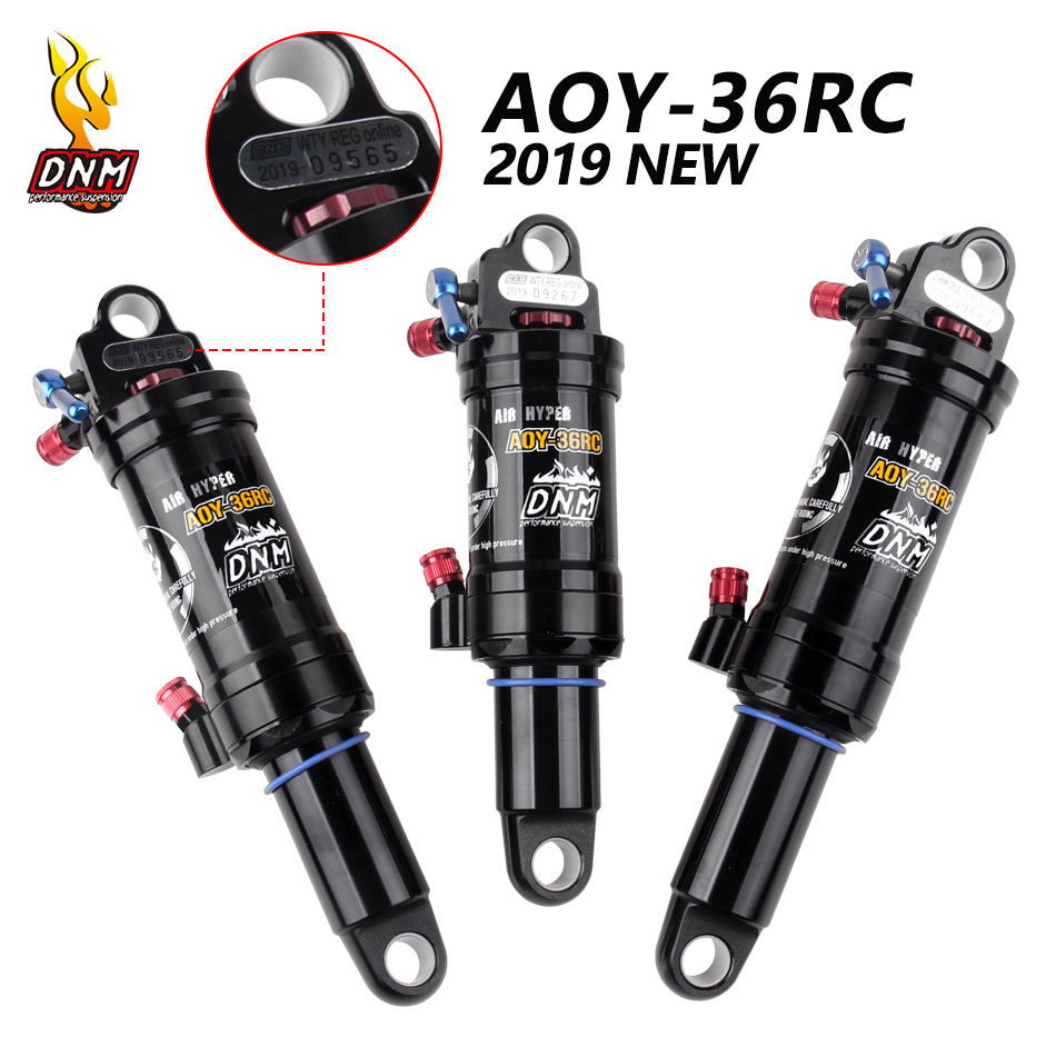 DNM AOY-36RC AO-38RC MTB Downhill Bike Coil Rear Shock 165/190/200/210mm Mountain Bicycle Air Shock Wire Ontrol/Hand Control